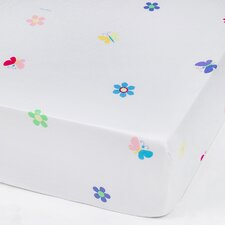 Butterfly Garden Olive Kid Fitted Crib Sheet