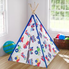 Trains, Planes and Trucks Canvas Play Teepee