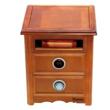 Nightstand Model 1,500 Watt Portable Electric Infrared Cabinet Heater with Remote Control