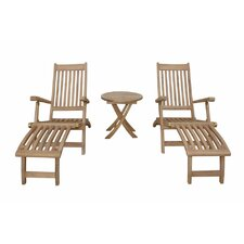 Tropicana Montage 3 Piece Steamer Lounge Chair Set