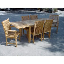Bahama 7 Piece Rectangular Extendable Dining Set