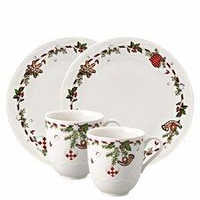 4-tlg. Frühstücksset Weihnachtsleckereien aus Porzellan