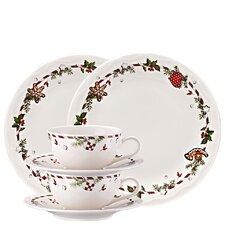 6-tlg. Frühstücksset Weihnachtsleckereien aus Porzellan