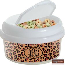 Leopard 12 Oz. Single Canister Snack Container