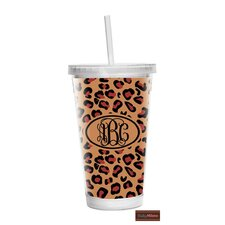 Leopard 16 oz Double Wall Insulated Tumbler