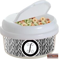 Zebra 12 Oz. Single Canister Snack Container