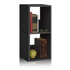 """Duo 30.2"""" Eco 2-Shelf Narrow Bookcase and Storage Shelf"""