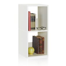 "Duo 30.2"" Eco 2-Shelf Narrow Bookcase and Storage Shelf"