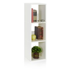 "Trio 44.8"" Eco 3-Shelf Narrow Bookcase and Storage Shelf"