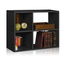 "Chelsea 24.8"" Bookcase and Cubby Storage Shelf"