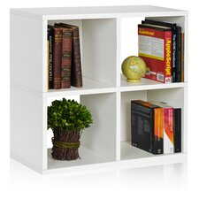 """Quad Cubby 24.8"""" Eco Bookcase, Stackable Organizer and Storage Shelf"""