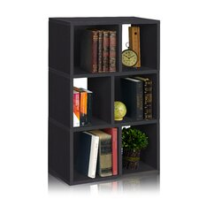 "Laguna 36.8"" Eco 3-Shelf Bookcase and Cubby Storage"