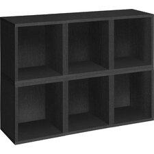 "Modular Cubes Plus 15.5"" Eco Stackable 6 Storage Cubes Bookcase (Set of 6)"