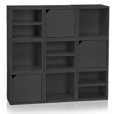 """Connect Cube Organizer System 9 x 13.4"""" Stackable Cubes and Cubby Organizer Bookcase"""