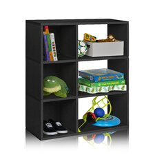 """Sutton 36.8"""" Eco 3-Shelf Bookcase and Cubby Storage"""