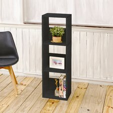 "Trio 44.8"" Eco 3-Shelf Narrow Bookcase and Storage Shelf"