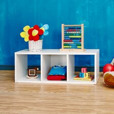 "Cozy Bench 12.8"" Eco 3-Cubby Storage Bench and Stackable Organizer"