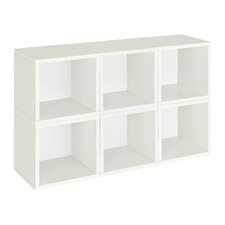 "zBoard Storage 6 x 12.8"" Cubes Stackable and Modular Storage Organizer Bookcase (Set of 6)"