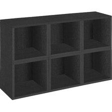 "zBoard Storage 6 x 12.8"" Cubes Stackable and Modular Storage Organizer Bookcase (Set of 6)"