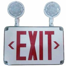 LED Wet Location Combo Legend Exit Sign and Emergency Light