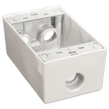 "Weatherproof Boxes in White with 0.5"" Outlet Holes (Set of 2)"