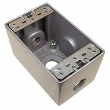 """2.75"""" Weatherproof Boxes in Gray with 3 Outlet Holes"""