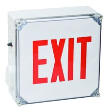 Wet Location LED Exit Sign Battery Backup Unit with Red Letter