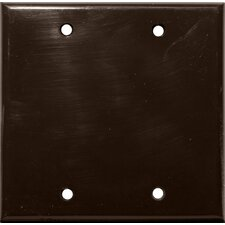 2 Gang Blank Lexan Wall Plates in Brown