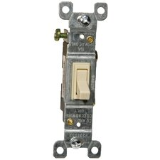 15A-120/277V 3 Way Toggle Switch in Ivory (Set of 5)