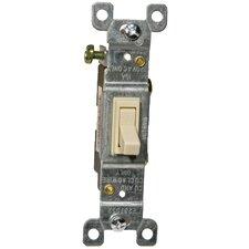 15A-120/277V Single Pole Toggle Switch in Ivory (Set of 7)