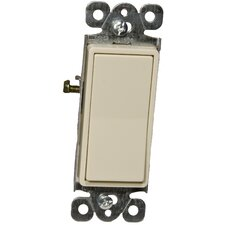 Decorator Single Pole Lighted Switches in Ivory (Set of 3)