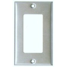 Midsize 1 Gang Decorator/GFCI Stainless Steel Metal Wall Plates (Set of 4)