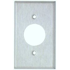 Midsize 1 Gang Single Receptacle Stainless Steel Metal Wall Plates (Set of 4)