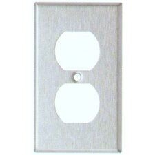 Oversize Duplex Receptacle 1 Gang Stainless Steel Metal Wall Plates (Set of 3)