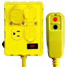 Single Portable GFCI Quad Box for Personal Protection