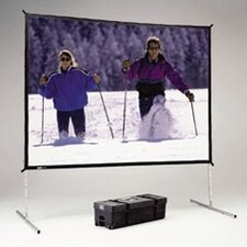 """Fast Fold Deluxe Black 126"""" H x 168"""" W Portable Projection Screen"""
