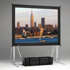 """Black 156"""" H x 268"""" W Portable Projection Screen"""