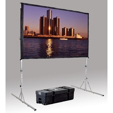 """Fast Fold Deluxe 69"""" H x 108"""" W Portable Projection Screen"""