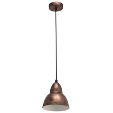 Vintage 1 Light Bowl Pendant Light in Bronze