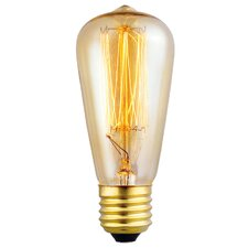 60W Yellow E27/Medium Incandescent Light Bulb (Set of 10)