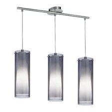 Pinto Nero 3 Light Kitchen Island Pendant Light