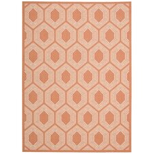 Sun and Share Bubbly Tangerine Indoor/Outdoor Area Rug