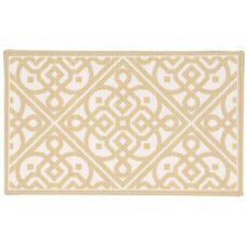 Fancy and Free Gold/White Area Rug