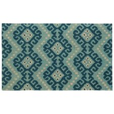 Color Motion Prussian Area Rug