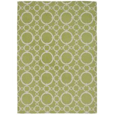 "Waverly Art House ""Connected"" Celery Area Rug"