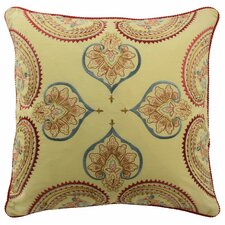 Swept Away Embroidered Decorative Cotton Throw Pillow