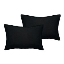 Lombard Reversible Decorative Linen Boudoir Pillow (Set of 2)