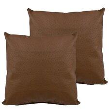 Ostrich Outdoor Throw Pillow (Set of 2)
