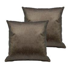 Alligator Outdoor Throw Pillow (Set of 2)