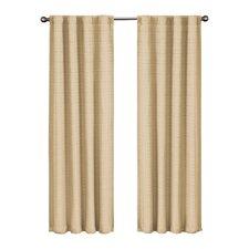 Twist Rod Pocket Blackout Single Curtain Panel